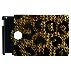 Metallic Snake Skin Pattern Apple Ipad 3/4 Flip 360 Case by BangZart