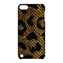 Metallic Snake Skin Pattern Apple Ipod Touch 5 Hardshell Case With Stand by BangZart