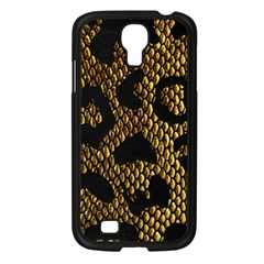 Metallic Snake Skin Pattern Samsung Galaxy S4 I9500/ I9505 Case (black) by BangZart
