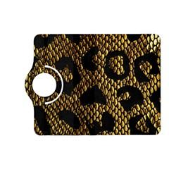 Metallic Snake Skin Pattern Kindle Fire Hd (2013) Flip 360 Case by BangZart