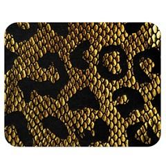 Metallic Snake Skin Pattern Double Sided Flano Blanket (medium)  by BangZart