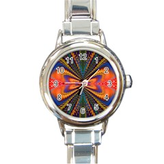 Casanova Abstract Art Colors Cool Druffix Flower Freaky Trippy Round Italian Charm Watch by BangZart