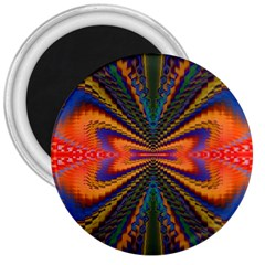 Casanova Abstract Art Colors Cool Druffix Flower Freaky Trippy 3  Magnets by BangZart