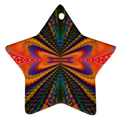 Casanova Abstract Art Colors Cool Druffix Flower Freaky Trippy Ornament (star) by BangZart