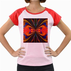 Casanova Abstract Art Colors Cool Druffix Flower Freaky Trippy Women s Cap Sleeve T Shirt