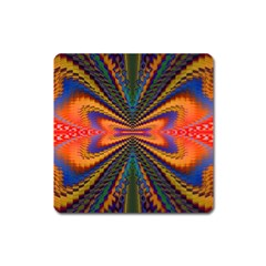 Casanova Abstract Art Colors Cool Druffix Flower Freaky Trippy Square Magnet by BangZart