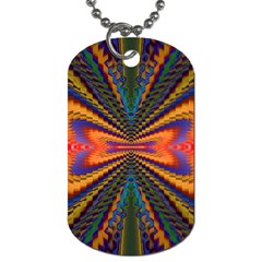 Casanova Abstract Art Colors Cool Druffix Flower Freaky Trippy Dog Tag (two Sides)
