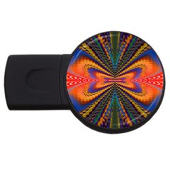 Casanova Abstract Art Colors Cool Druffix Flower Freaky Trippy Usb Flash Drive Round (2 Gb) by BangZart
