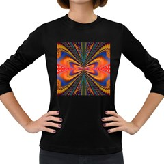 Casanova Abstract Art Colors Cool Druffix Flower Freaky Trippy Women s Long Sleeve Dark T Shirts