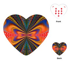 Casanova Abstract Art Colors Cool Druffix Flower Freaky Trippy Playing Cards (heart)