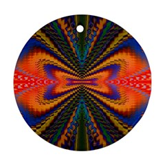 Casanova Abstract Art Colors Cool Druffix Flower Freaky Trippy Round Ornament (two Sides) by BangZart