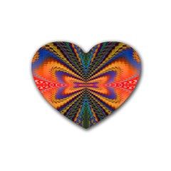 Casanova Abstract Art Colors Cool Druffix Flower Freaky Trippy Heart Coaster (4 Pack)
