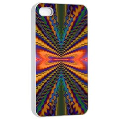 Casanova Abstract Art Colors Cool Druffix Flower Freaky Trippy Apple Iphone 4/4s Seamless Case (white) by BangZart