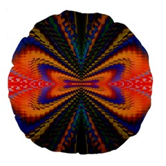 Casanova Abstract Art Colors Cool Druffix Flower Freaky Trippy Large 18  Premium Round Cushions
