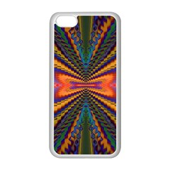 Casanova Abstract Art Colors Cool Druffix Flower Freaky Trippy Apple Iphone 5c Seamless Case (white)