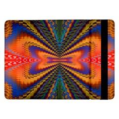 Casanova Abstract Art Colors Cool Druffix Flower Freaky Trippy Samsung Galaxy Tab Pro 12 2  Flip Case