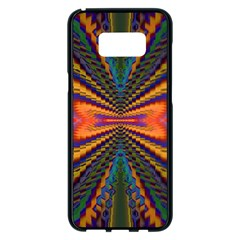 Casanova Abstract Art Colors Cool Druffix Flower Freaky Trippy Samsung Galaxy S8 Plus Black Seamless Case by BangZart