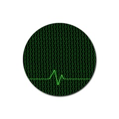 01 Numbers Rubber Coaster (round)