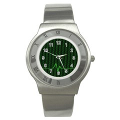 01 Numbers Stainless Steel Watch by BangZart