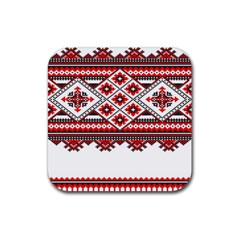 Consecutive Knitting Patterns Vector Rubber Square Coaster (4 Pack)  by BangZart