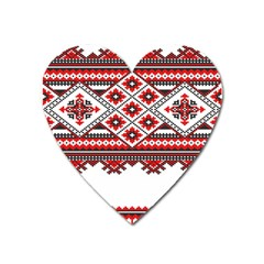 Consecutive Knitting Patterns Vector Heart Magnet