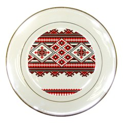 Consecutive Knitting Patterns Vector Porcelain Plates by BangZart