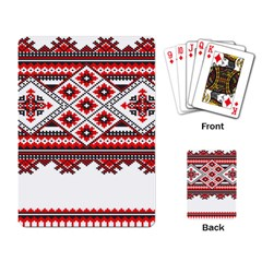 Consecutive Knitting Patterns Vector Playing Card by BangZart