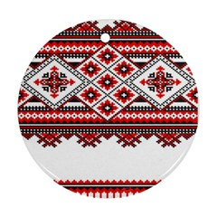 Consecutive Knitting Patterns Vector Round Ornament (two Sides)