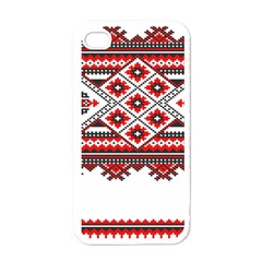 Consecutive Knitting Patterns Vector Apple Iphone 4 Case (white)