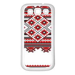 Consecutive Knitting Patterns Vector Samsung Galaxy S3 Back Case (white)