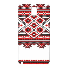 Consecutive Knitting Patterns Vector Samsung Galaxy Note 3 N9005 Hardshell Back Case
