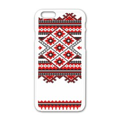 Consecutive Knitting Patterns Vector Apple Iphone 6/6s White Enamel Case by BangZart