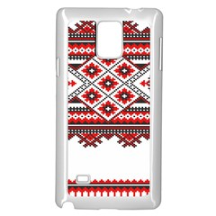 Consecutive Knitting Patterns Vector Samsung Galaxy Note 4 Case (white)