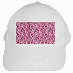 Abstract Pink Squares White Cap by BangZart