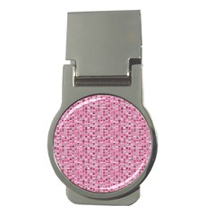 Abstract Pink Squares Money Clips (round)