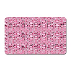 Abstract Pink Squares Magnet (rectangular)