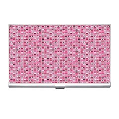Abstract Pink Squares Business Card Holders