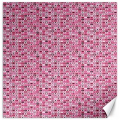 Abstract Pink Squares Canvas 16  X 16   by BangZart