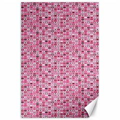 Abstract Pink Squares Canvas 24  X 36