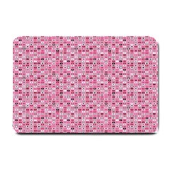 Abstract Pink Squares Small Doormat  by BangZart