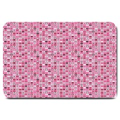 Abstract Pink Squares Large Doormat
