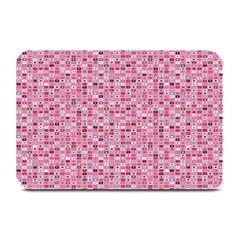 Abstract Pink Squares Plate Mats by BangZart