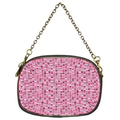Abstract Pink Squares Chain Purses (two Sides)