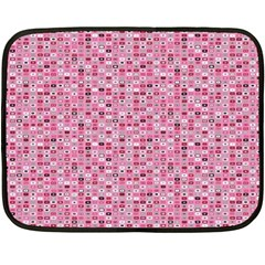 Abstract Pink Squares Double Sided Fleece Blanket (mini)  by BangZart