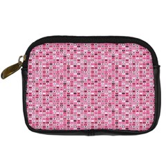 Abstract Pink Squares Digital Camera Cases by BangZart