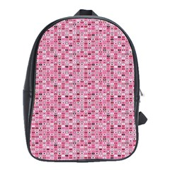 Abstract Pink Squares School Bags(large)