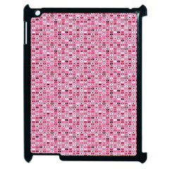 Abstract Pink Squares Apple Ipad 2 Case (black) by BangZart