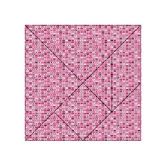 Abstract Pink Squares Acrylic Tangram Puzzle (4  X 4 )