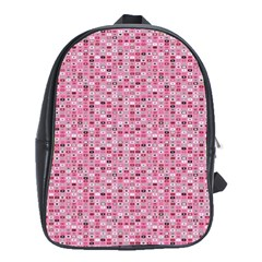 Abstract Pink Squares School Bags (xl)