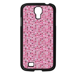 Abstract Pink Squares Samsung Galaxy S4 I9500/ I9505 Case (black) by BangZart